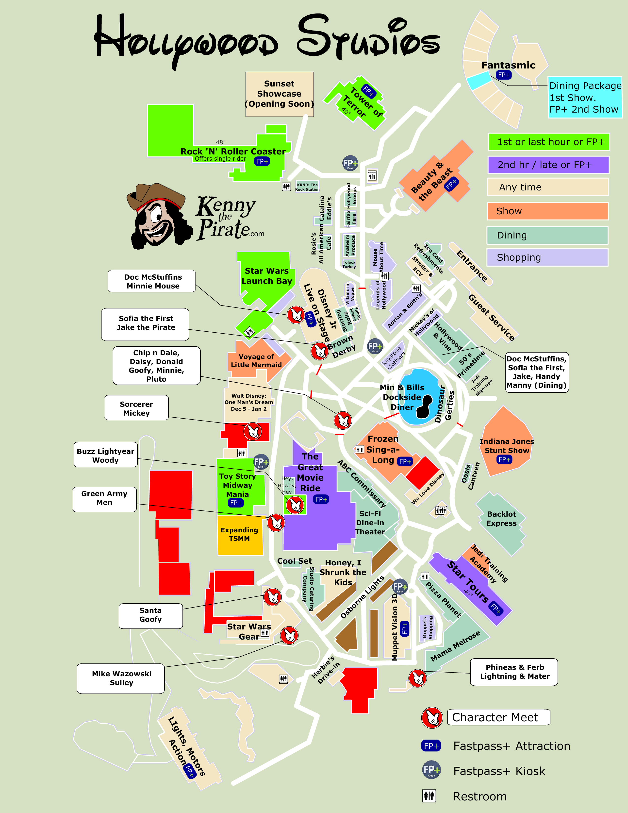 Kenny The Pirate Character Locator - Hollywood Studios Map ...