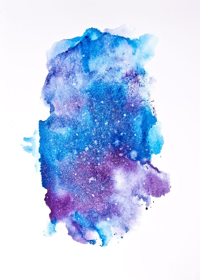 How To Paint The Galaxy With Watercolors Watercolor Galaxy