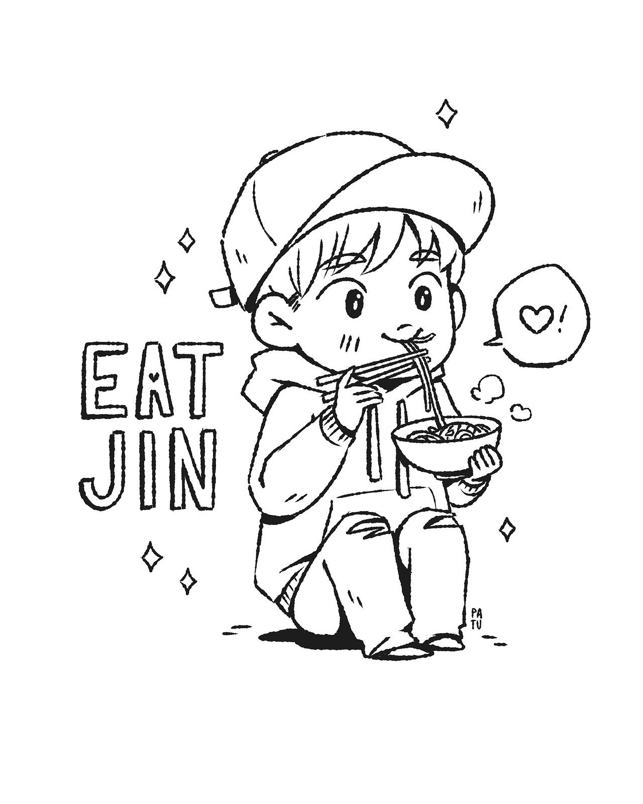Image Result For Bts Coloring Pages To Print Chibi Coloring