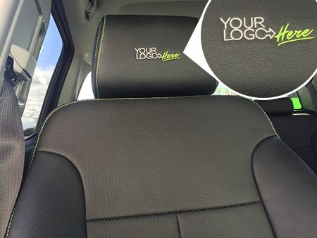 Vehicle · Clazzio Leather Seat Covers - Custom Embroidery