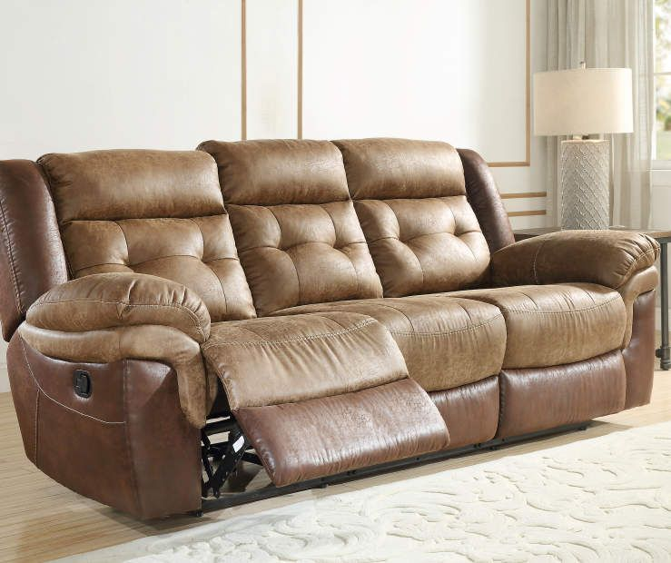 Mesa Brown Faux Leather Motion Reclining Sofa Big Lots Sofa