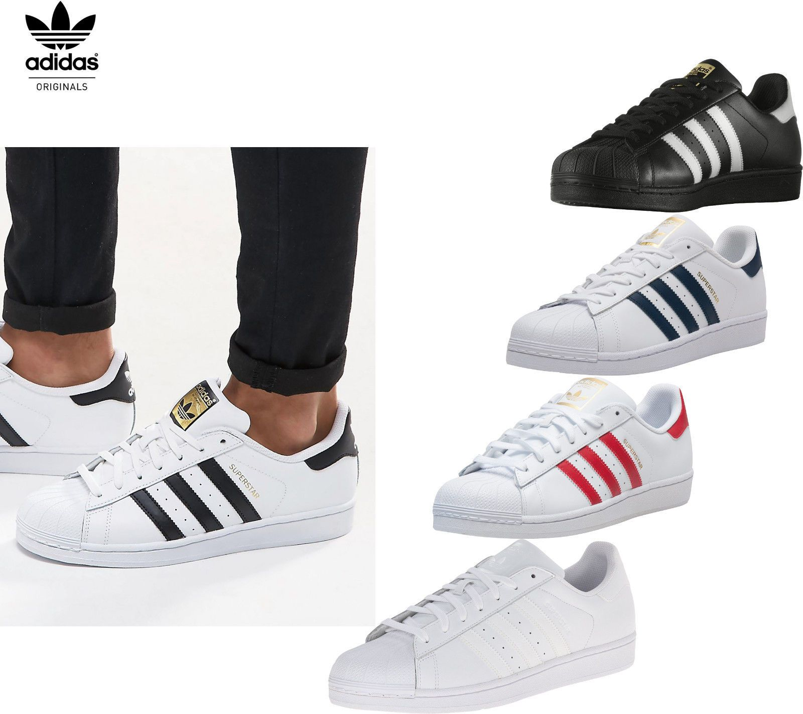 Adidas Superstar Shoes Men Sneakers Adidas Originals B27140 C77124 NEW