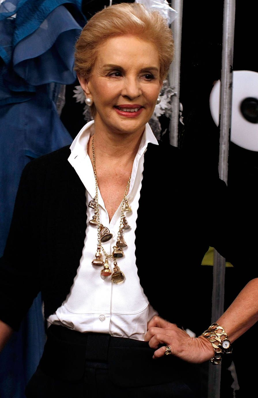 14 Times Carolina Herrera Proved That A White Blouse and Jewels Are The Chicest Combination