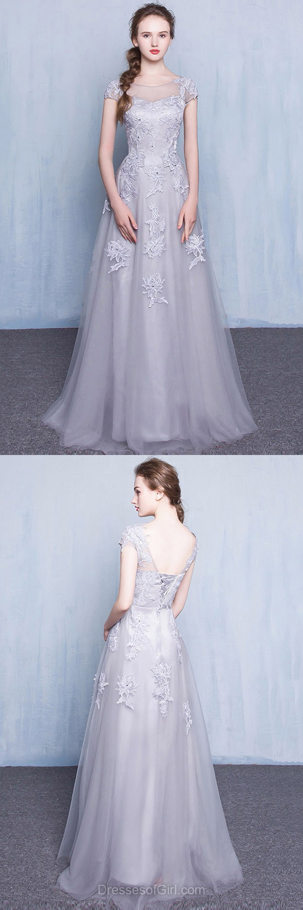 Princess prom dress long prom dresses tulle evening gowns low