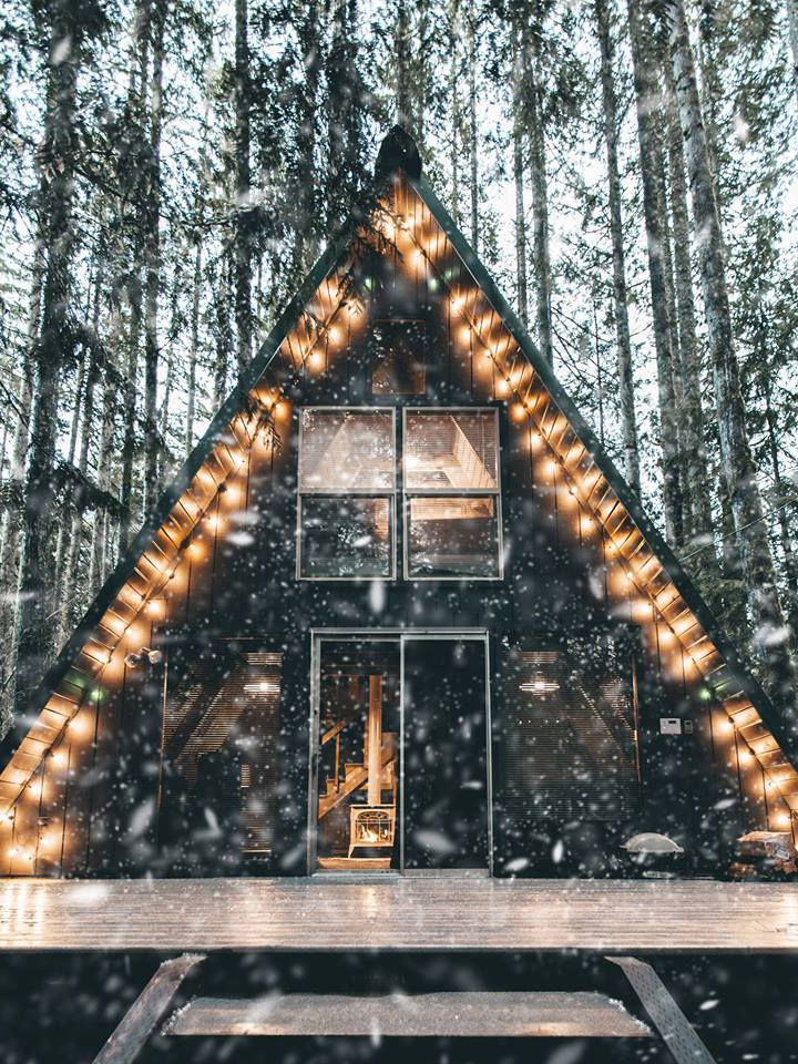 Tye Haus: The Classic Pacific Northwest A-Frame | Cabin, Check and House