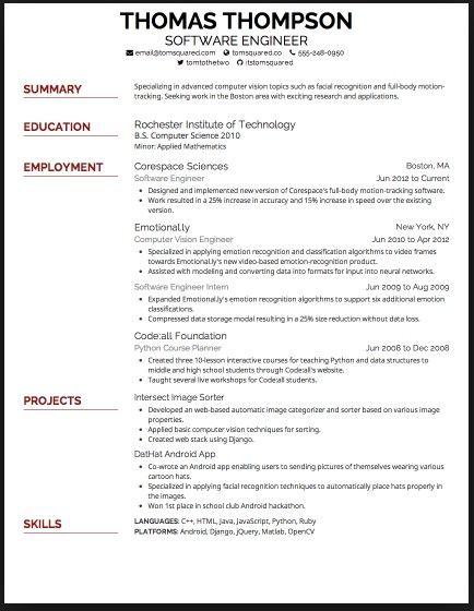 best font for resume 2015