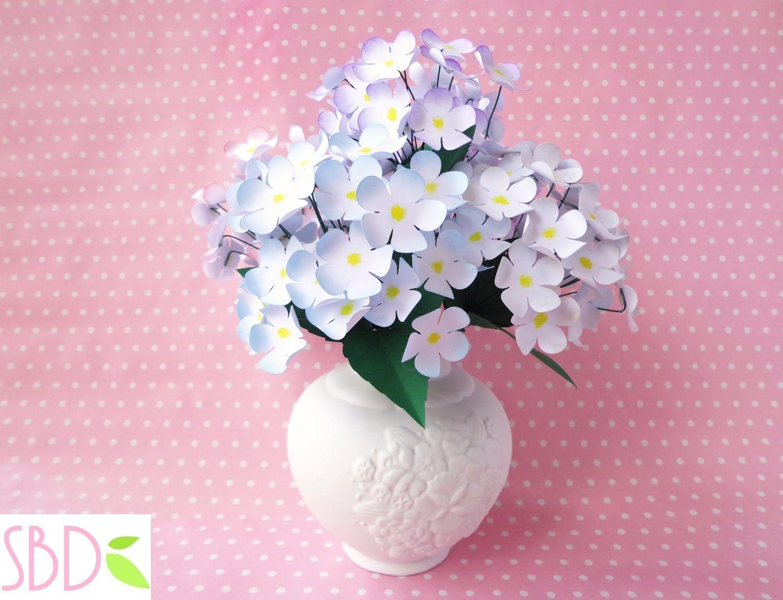 Vaso Di Fiori Di Carta Home Decor Diy Paper Flowers Vase
