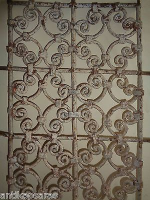 109cm Grille Fenetre Fer Forgé Ancien Maroc Antique Iron Window