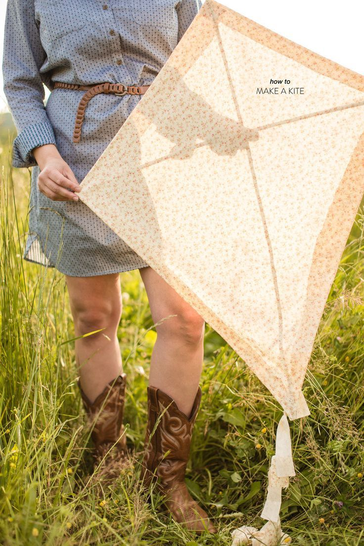 Windy March is a great month for flying kites! Here are instructions for a traditional kite using fabric as a base.
