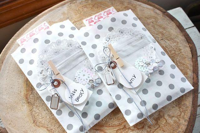 Mish Mash: Boutique Item...Gray Polka Dot Gift Packaging