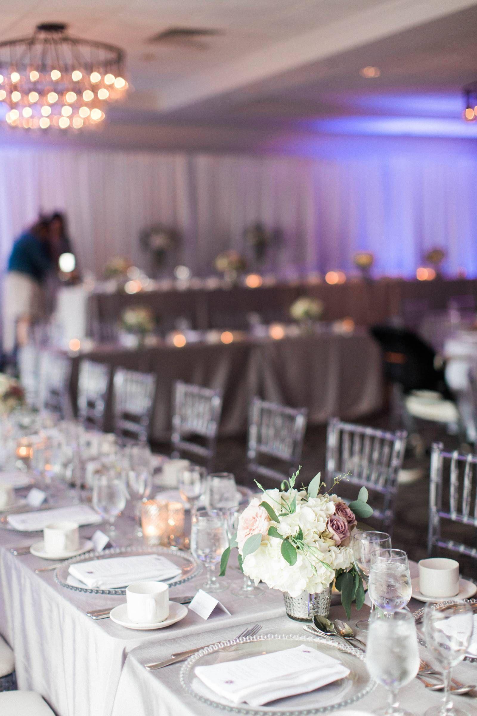 day of wedding coordination via elegant productions silver hotel wedding reception hydrangea floral