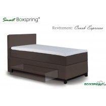 Boxspring Vesuvio Scandinave à tiroirs pour 1 personne