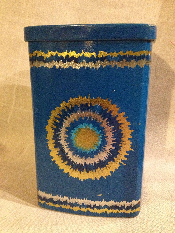 70s wonderful Vintage Anita Wangel Ira tin canister. Denmark. Scandinavian design,. kr130.00, via Etsy.