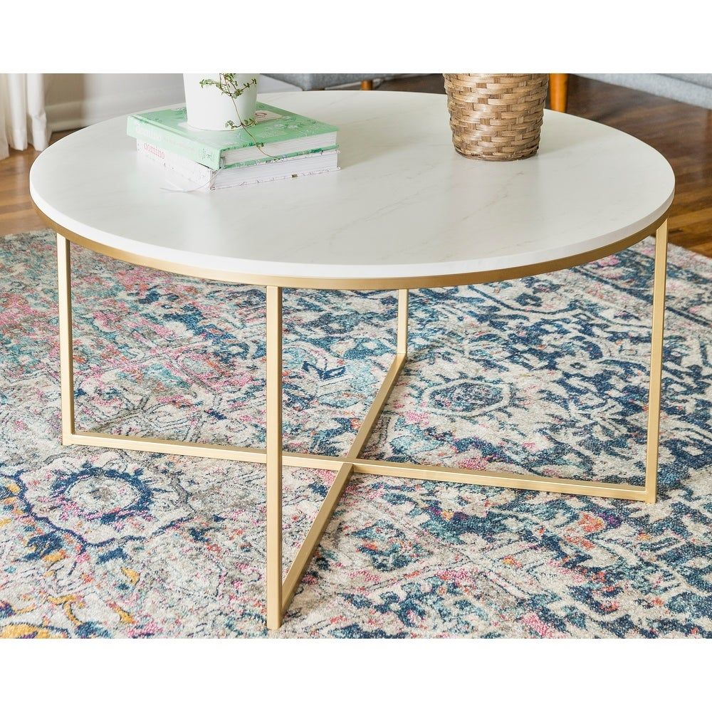 Overstock Com Online Shopping Bedding Furniture Electronics Jewelry Clothing More Coffee Table Marble Round Coffee Table Round Coffee Table [ 1000 x 1000 Pixel ]