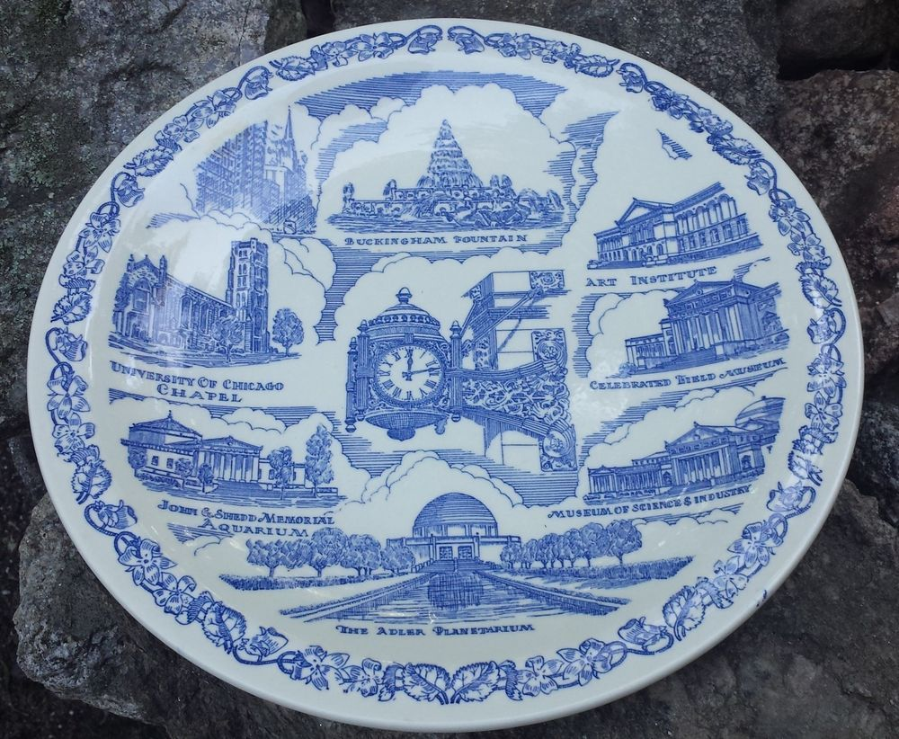 Vintage Collectible Porcelain Plate - Chicago Landmarks in Collectibles Decorative Collectibles Collector Plates | & Vintage Collectible Porcelain Plate - Chicago Landmarks in ...