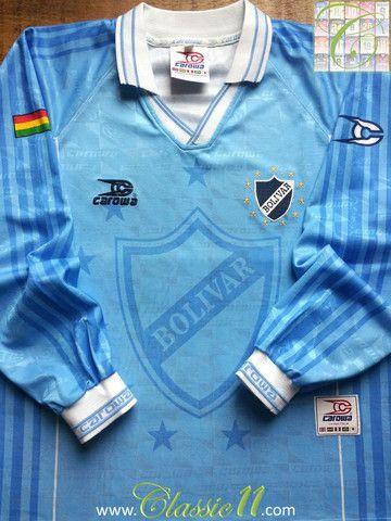 Relive Club Bolívar S 1997 1998 Season With This Vintage Carowa Home Long Sleeve Football Shirt Football Shirts Shirts Football Logo