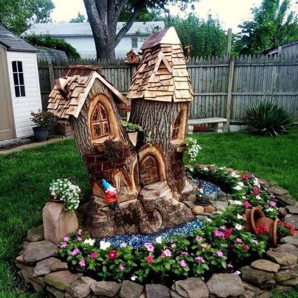 Дачные поделки для украшения сада - подбор фото | Сад ...