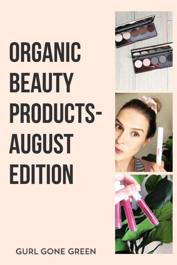 Organic Beauty Products- August is here!  Is it just me or did summer fly by?  As much as I love summer, I'm SO ready for fall and to meet this little babe!  6 weeks out- crazy.  So this month I have some new products and some old ones as well that I'm sharing with you.  I should say I rediscovered some old products!  I forgot how awesome they were.  Trust me, it happens when you're a clean beauty blogger! | gurlgonegreen.com #greenbeauty #review #skincare #makeup #essentials