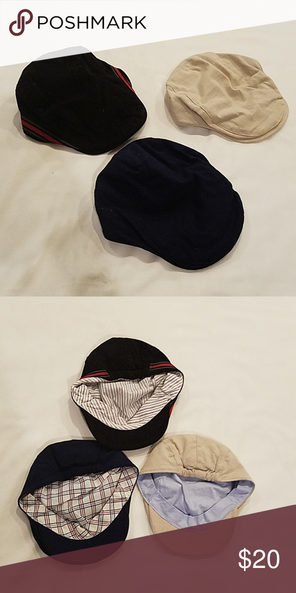 e6cb1887cd3 Baby boys golf cap set Black corduroy cap