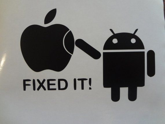 131d7f03156 Fixed It Android Apple Toshiba Dell Inspiron Decal MacBook Pro Air PC Laptop  Decal Sticker PC Acer H