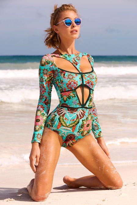 Amazonia Long Sleeve One-piece Swimsuit