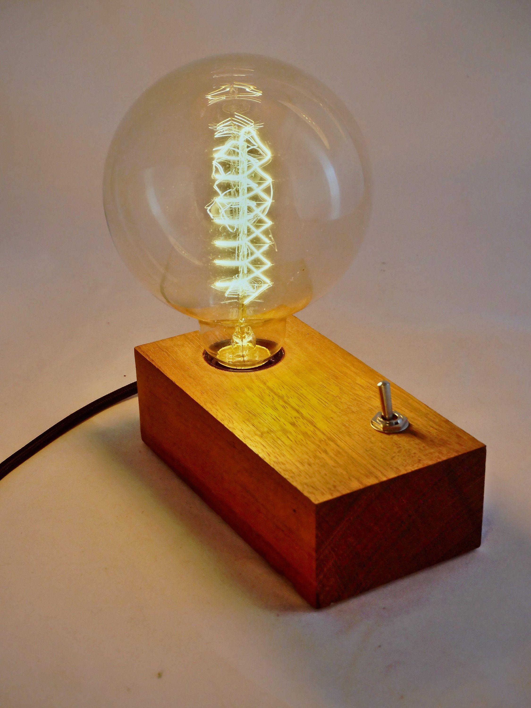 Lampe En Bois Ampoule Filament Vintage In 2020 Edison Light Bulbs Light Bulb Light