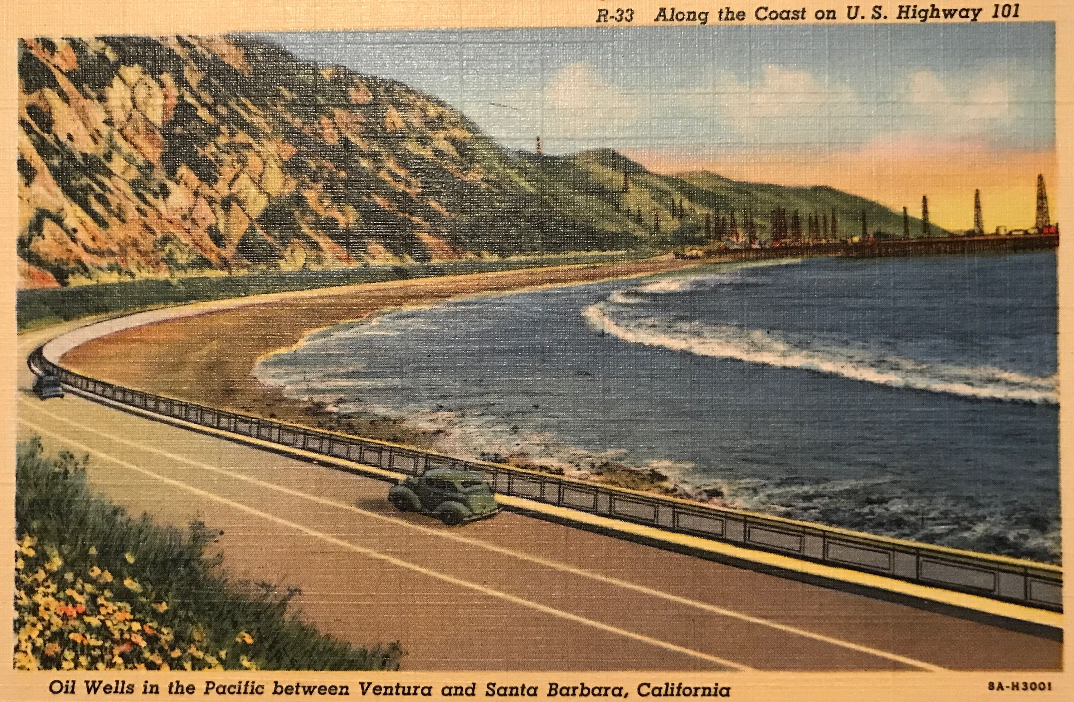 Seawall Section Built In 1926 Replaced Rincon Causeway A Wooden Structure Built In 1912 Country Roads Sea Wall California Road