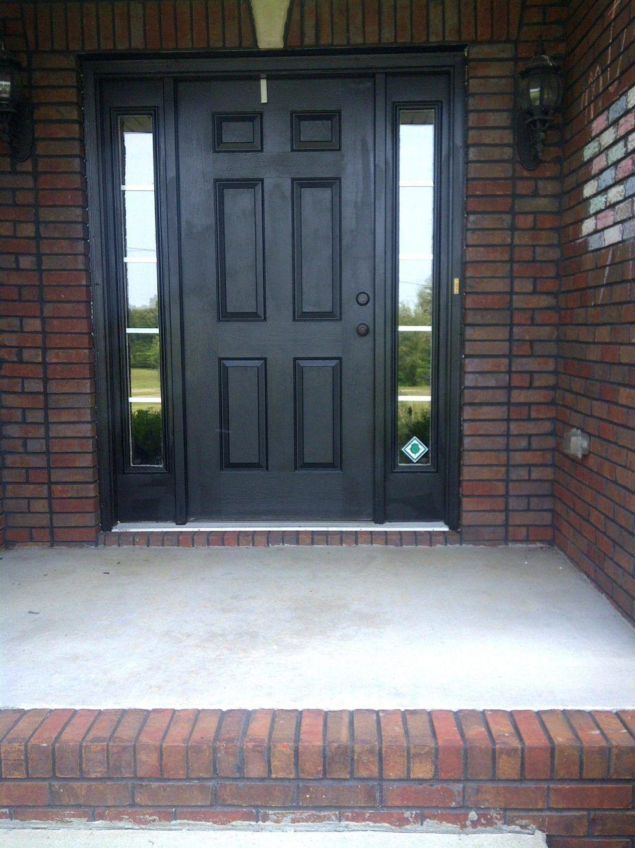 Front door orange brick house what color to paint front - Front door colors for red brick house ...