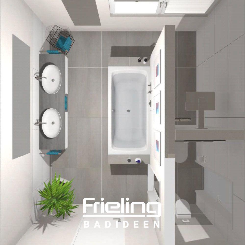 Das Moderne Bad Mit T Losung 3d Planung Vogelperspektive Grosse Badezimmer Wohnung Badezimmer Dekoration Badezimmer