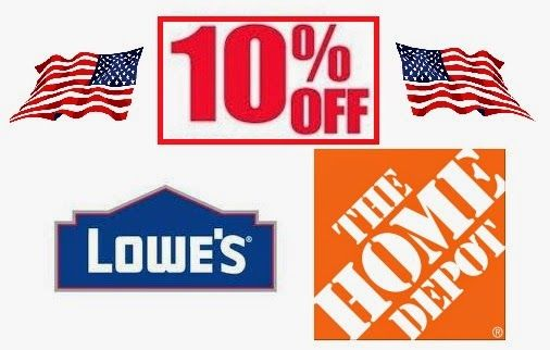 Military Discounts And Deals Home Depot Lowes Military Discounts Lowes Home Depot Home Depot