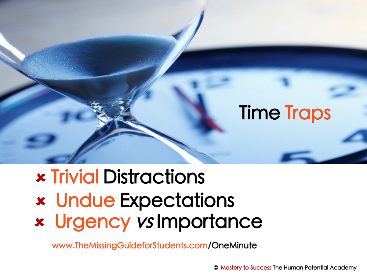 What are your time traps? Identify them first and get back on time on target with the One Minute On Target On Track planner. Just click here to download