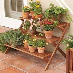 Balcony Gardening Idea 3 Tier Plant Stand
