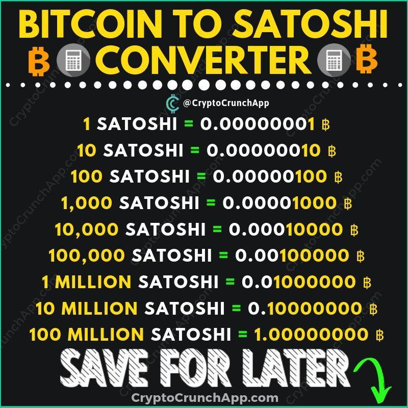 convertor satoshi în bitcoin)
