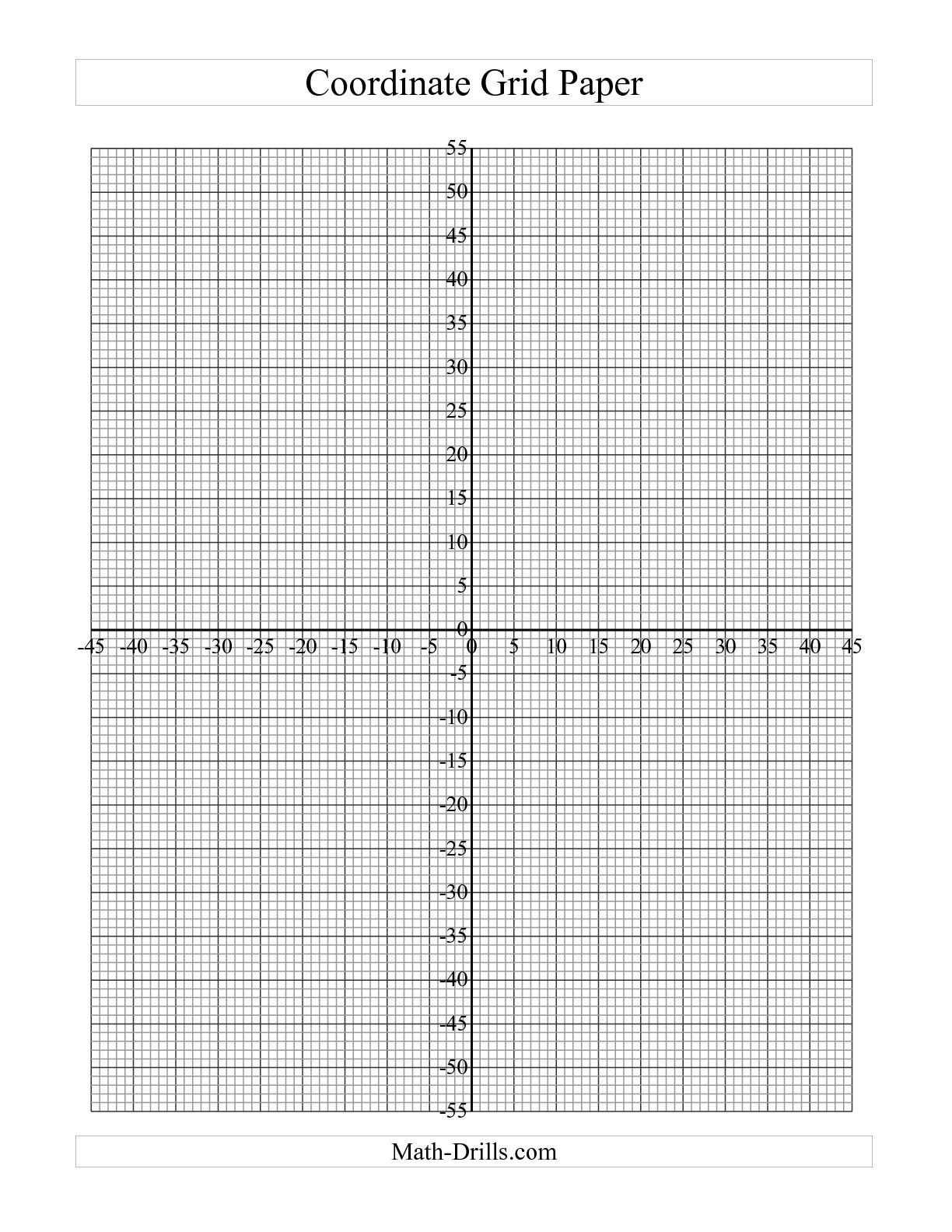 Coordinate Plane Blank Sea Animals Coloring Printable