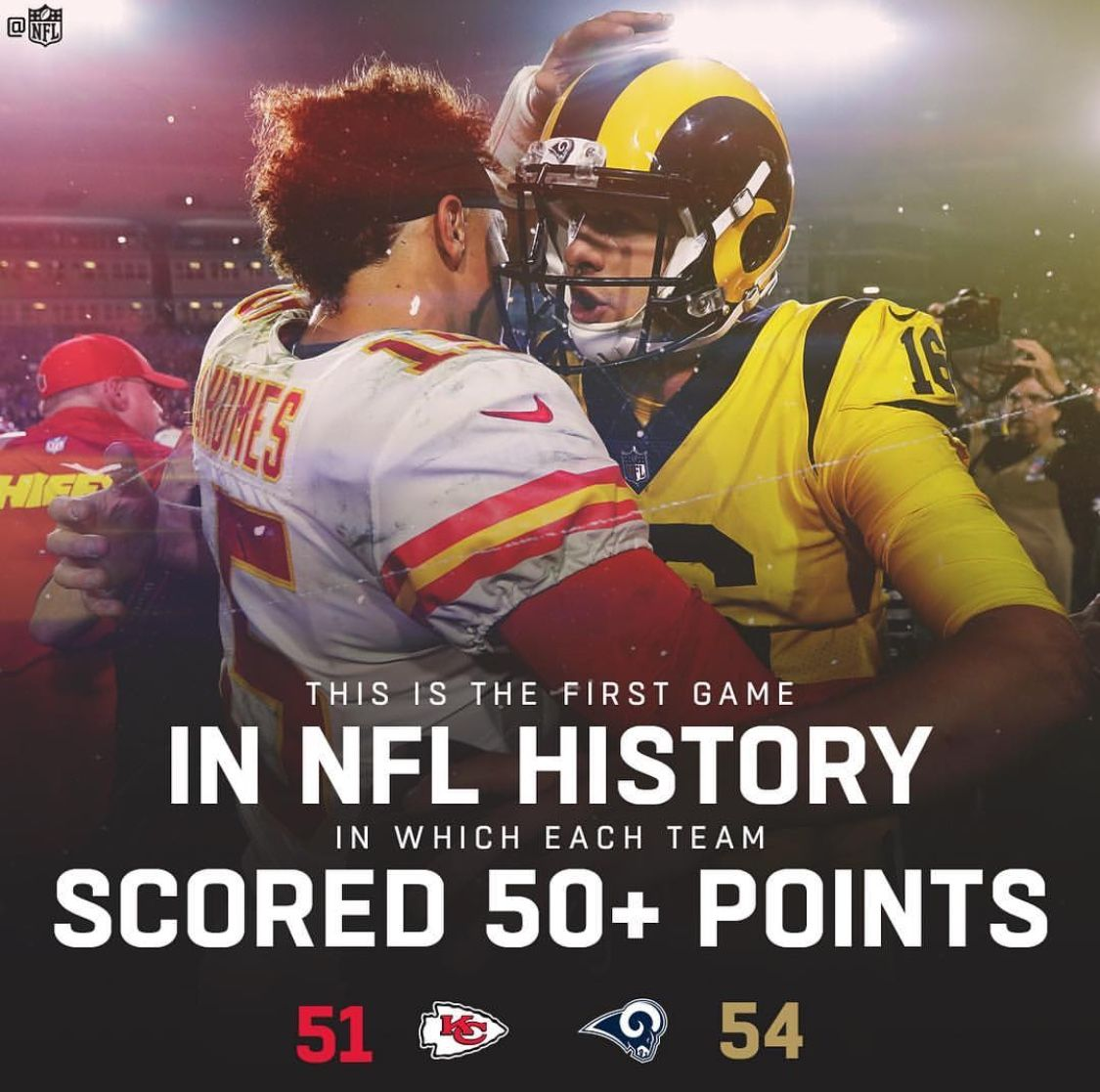 Wow Great Game Between The Kansas City Chiefs And The Los Angeles Rams Nfl Nfl History Rams Football