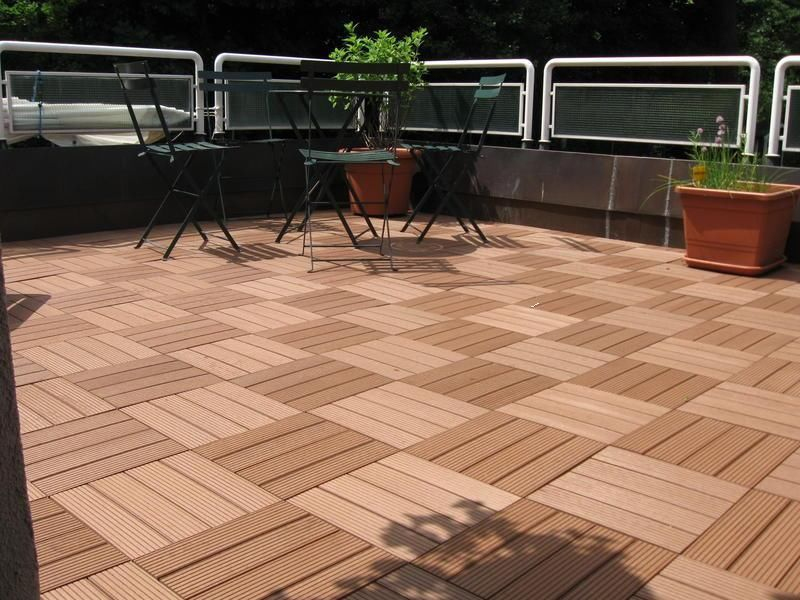 futurewood bamboo interlocking decking tiles 1sqm (11 tiles) wood