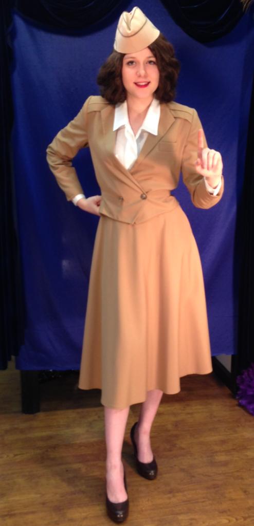 1940s WWII Era Attire 1940s Andrews Sisters Costume Historical 1940s Famous Women Andrews  sc 1 st  Pinterest & 1940s WWII Era Attire 1940s Andrews Sisters Costume Historical ...