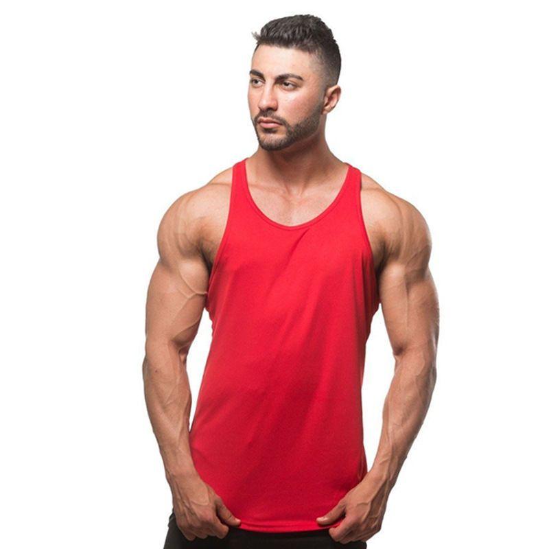 Muscle Sleeveless T-Shirt for Men Gym Tank Tops Bodybuiding Sport Fitness Vest