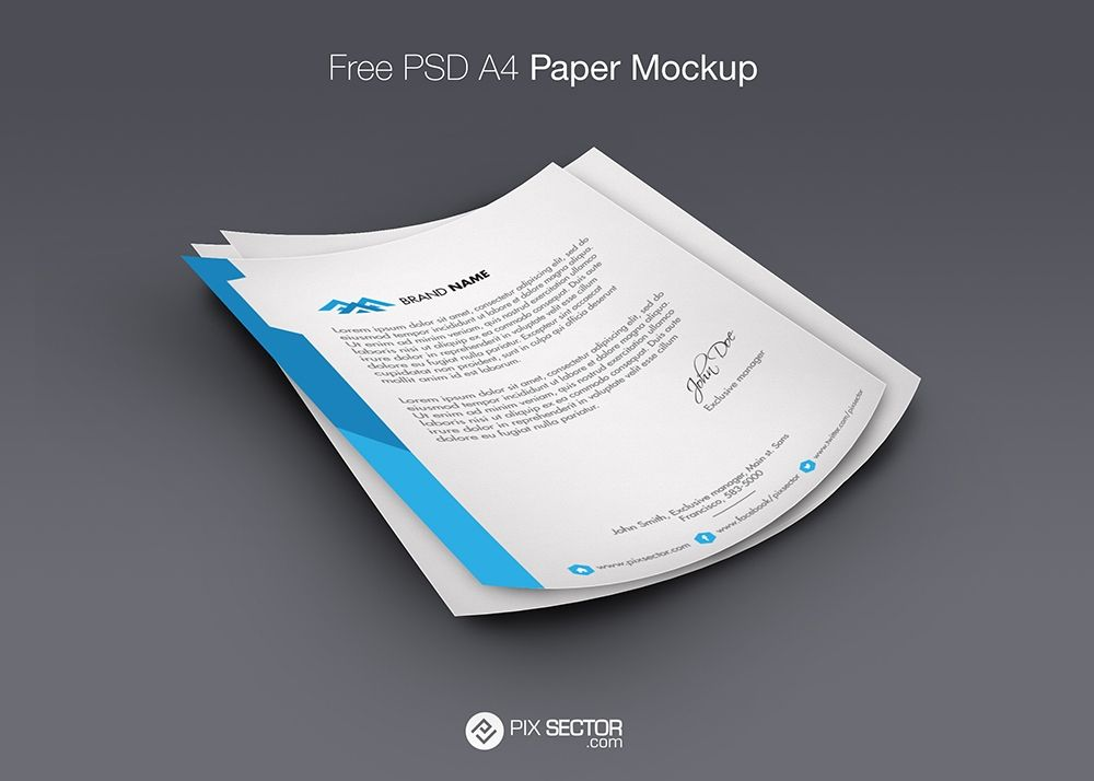 Letterhead Mockup Psd Free Pixsector Free Vector Images Mockups Psds And Photos