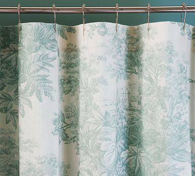 Matine Toile Shower Curtain Dark Porcelain Blu Pottery