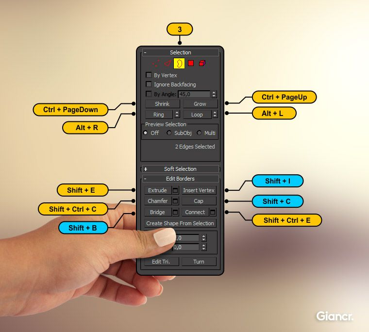 Border shortcuts 3ds max mini tuts pinterest 3ds max for 3ds max design