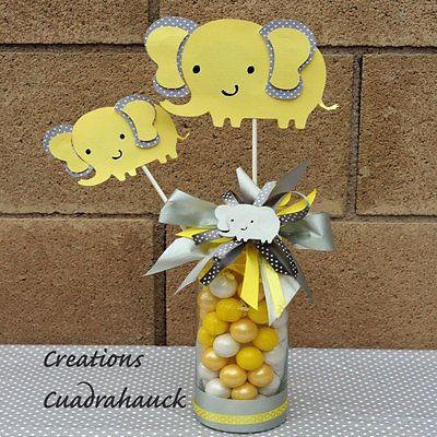 Elephant Yellow And Gray Elephant Baby Shower Elephant