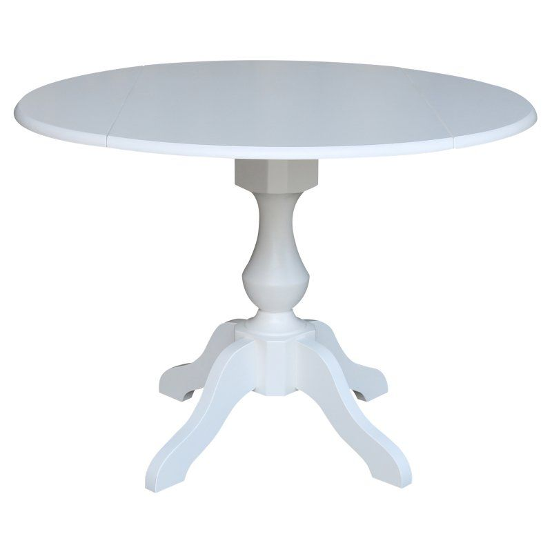 International Concepts Round Dual Drop Leaf Pedestal Dining