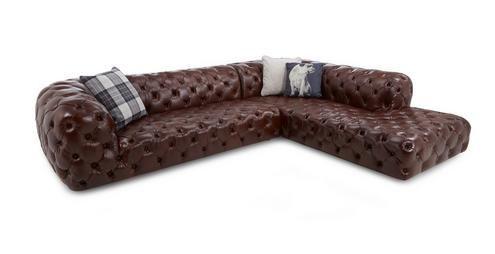 Batoni Left Hand Facing Corner Sofa  Champion Leather | DFS