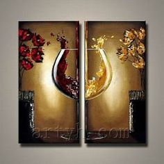 Still Life Wine Bottle Painting Canvas on Made-in-China.com | Home ...