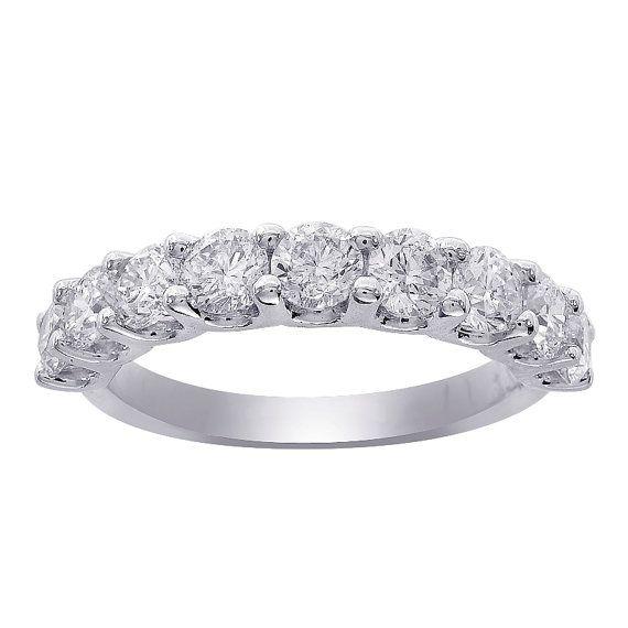 0 75 Carat Ladies 9 Stone Diamond Wedding By Avitalandcojewelry
