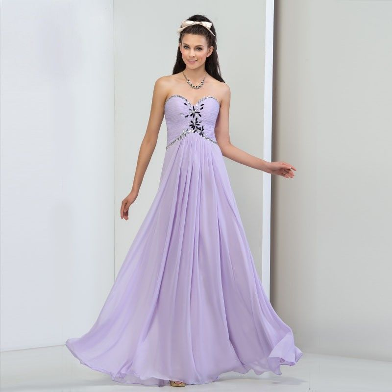 quality design 02ea7 3e970 Große Größen Cocktailkleid Lavendel mit Rücken Dekollette ...