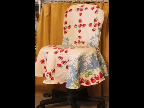 A Simple DIY Slipcover For Office Kitchen Dining Room Chairs