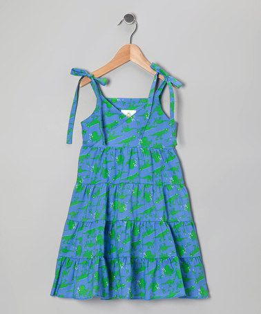 Take a look at this Blue & Green Dino Princess Dress - Toddler & Girls by Corky's Kids on #zulily today!