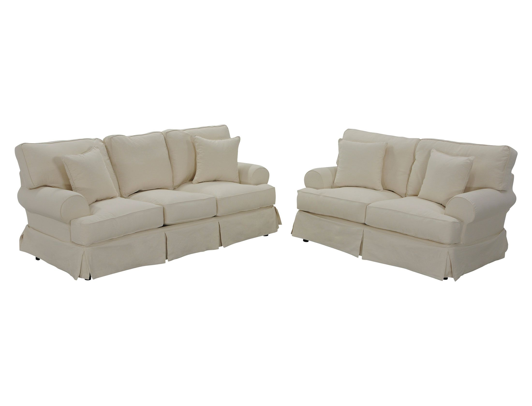 Classic slipcover sofa set Jerome s Furniture